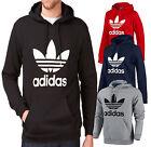 Adidas Originals Mens Trefoil Fleece Hooded Sweatshirt Hoodie Size S M L XL 2XL