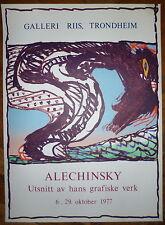 Alechinsky Pierre affiche originale art abstrait cobra 1977 Trondheim
