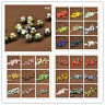 10/30Pcs Round Ceramic Porcelain Loose Spacer Big Hole Beads Charms 10mm New