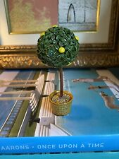 Antique French Tole Metal Topiary Lemon Tree Figurine