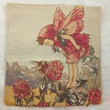 Red Clover Fairy Cicely Mary Barker Tapestry Cushion Pillow Cover Goeblin Art