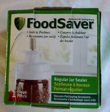 FoodSaver Regular Mouth Mason Jar Sealer 1-Piece New Open Box Ships FREE