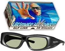 Ultra-Clear HD 144Hz DLPLink 3D Active Shutter Glasses for All 3D DLP Projectors