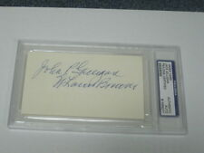 Jack Gilligan Autographed Index Card PSA Certified Encapsualted