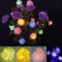 20 Led Rose Flower Fairy Light Wedding Party Xmas String Battery Bedroom Decor