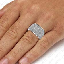 White Gold Finish Round VVS1 Diamond Engagement Ring Men's Wedding Pinky Band