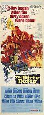 THE DIRTY DOZEN Movie POSTER 14x36 Insert Lee Marvin Ernest Borgnine Charles