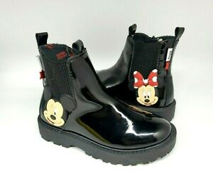 Zara Mickey Minnie Mouse Disney Boots Shoes Girls Size 4 US