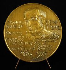 Medaille Gehen Guizot Damen Unbedeckt Allegorie Past Present Future Gesellschaft