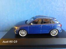AUDI RS Q3 2013 TFSI BLUE METAL SUV SCHUCO 450751101 1/43 BLAU BLEU METALLIC