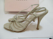 New Ted Baker Diva Silver Cocktail Party Swarovski Heel Shoes Size 9
