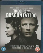 The Girl With The Dragon Tattoo (Blu-ray, 2012, 2-Disc Set) FREE SHIPPING