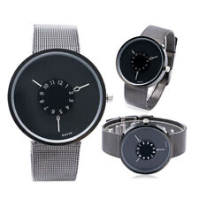New Arrival Turntable Men Women Quartz Kevin Stainless Steel Mesh Wrist Watch