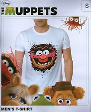 T-Shirt ANIMAL das Tier Lizenz Shirt weiß Disney white Muppet Show The Muppets