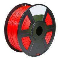 Fluorescent Red 3D Printer Filament 1kg/2.2lb 1.75mm PLA MakerBot RepRap