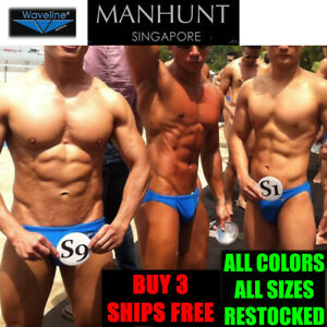 Waveline ManHunt Singapore Men's Swimwear Swim Trunks Tanga Bikini Speedo Briefs