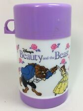 Walt Disney Beauty and the Beast Thermos Drink Container 1991 Original Cartoon
