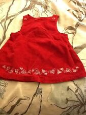 Red Jumper Dress Size 12 Months Holiday Christmas Corduroy Sleeveless