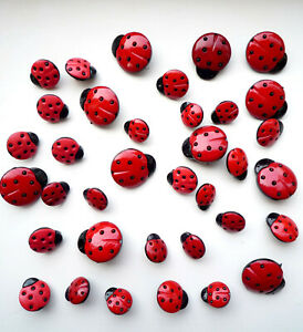 LADYBIRD COLLECTION Craft Buttons Novelty Insect Flower Garden Food SALE