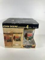 John Deere Memories Glasses Set 4 Gibson 16oz