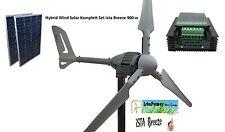 KIT 900 ,Aerogenerador 700w 24v + Regulador Hibrido1600w +2 Placas solar 100w