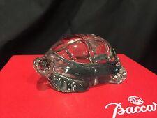 Rare Baccarat France Art Glass TURTLE TORTOISE Clear Crystal Figure