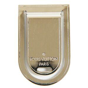 Louis Vuitton Pince A Billets Porte M65067 Silver Metal Money Clip Unisex Men LV