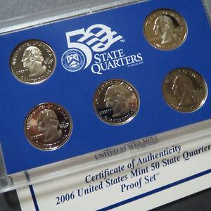 2006   U.S. STATE QUARTERS PROOF SET, 5-COIN SAN FRANCISCO MINT UNCIRCULATED SET