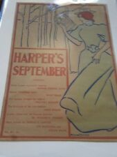 ORIGINAL POSTER Harper's Magazine / Edward Penfield  September 1895