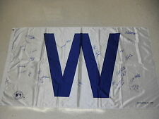 2016 CHICAGO CUBS TEAM SIGNED W FLAG BRYANT LESTER WORLD SERIES BSA FULL LETTER