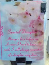 "BNIP "" SPECIAL DAUGHTER "" Memorial Laminated Card / Butterfly Stake Holder"
