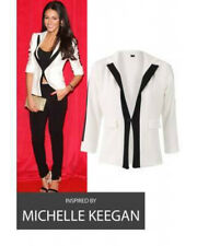 Celebrity Contrast Blazer Michelle Keegan Fashion Summer Party Casual UK