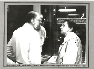 ALLEN GINSBERG & HERBERT HUNCKE SEPT 1989 NYC BEAT WRITERS PHOTO POSTCARD #3