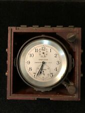 Vintage Ww2 Hamilton Ships Chronometer Rare Model 21 Fusee Movement Original