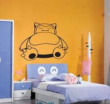 Snorlax pokemon wall art autocollant vinyle autocollant amovible cartoon personnage catch