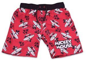 Disney Red Mickey Mouse Primark Swimming Swim Shorts NEW