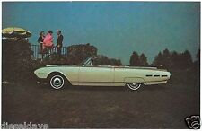 1962 Ford THUNDERBIRD Convertible NOS Dealer Promotional Postcard UNUSED VG+/EX