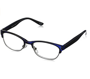 Foster Grant Reading Glasses Womens Antonella Blue New +1.00 or +1.50 Strength