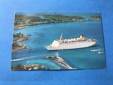 Vintage Postcard Post Card Home Lines Atlantic Italian Crew 1988 Cruise Ship
