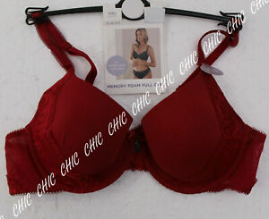 M&S SOPHIA LACE COLLECTION MEMORY FOAM UNDERWIRED FULL CUP BRA BNWT RED SIZ 38A