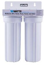 WATTS 2 Stage Whole house water filter Sediment Carbon RV Marine Boat Home POE