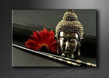 Bilder auf Leinwand Buddha 120x80cm XXL 5043 + Alle Wandbilder fertig gerahmt