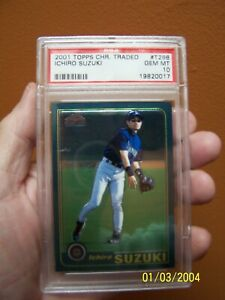 Look what Santa brought. An Ichiro Suzuki 2001 PSA 10 Topps Chrome rookie card