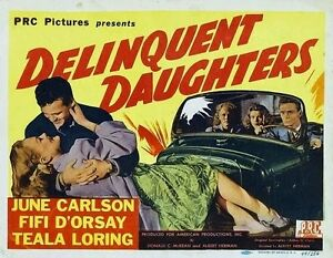 Delinquent Daughters movie film DVD transfer rebel youth pinup high school girls