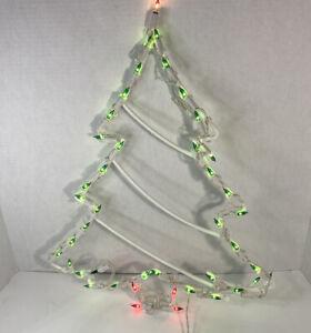 Christmas Decoration 45 Light Christmas Tree Plastic Plug In Indoor/Outdoor