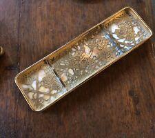 Tiffany Ny Grapevine Pattern Caramel Glass & Bronze Arts & Crafts Desk Tray