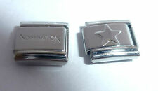SILVER STAR 9mm Italian Charm + 1x Genuine Nomination Classic link - Space Stars