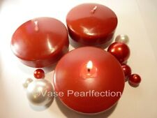 "3.25"" Red Floating Candles. Set of 3 Candles-Unscented-value pack for vase decor"
