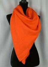 Brioni Women's Scarf Shawl Wrap Orange Italy Wool Silk Trim 56 x 56 Large Casual