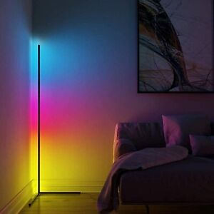 Corner Floor Lamp Modern Colour Remote Minimalist LED Corner Standing Light